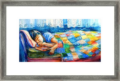 Afternoon Nap Framed Print by Trudi Doyle