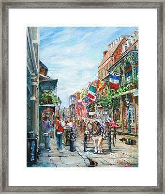 Afternoon On St. Ann Framed Print by Dianne Parks