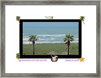 Afternoon On The Island A Poster Framed Print by Jorge Gaete