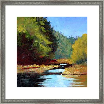 Afternoon On The River Framed Print by Nancy Merkle