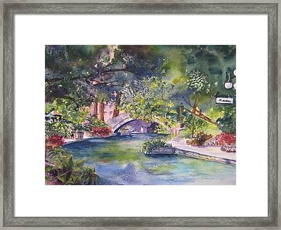 Afternoon On The San Antonio Riverwalk Framed Print