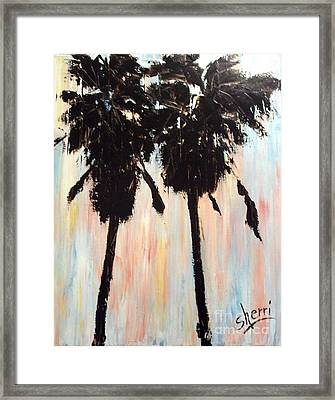 Afternoon Palms Framed Print by Sherri Wimberly