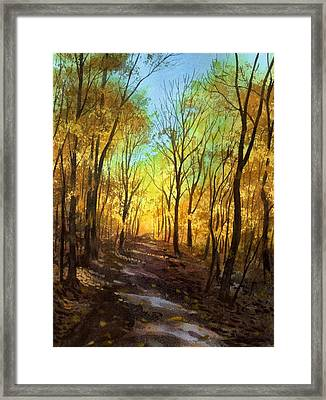 Framed Print featuring the painting Afternoon Road by Sergey Zhiboedov