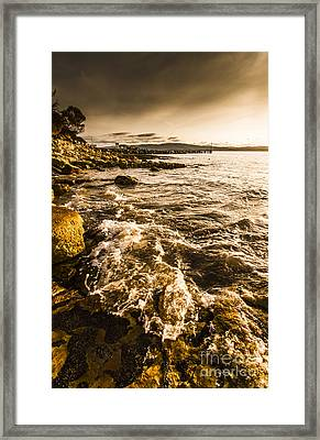 Afternoon Rocky Coast  Framed Print