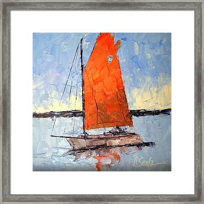 Afternoon Sail Framed Print by Leslie Saeta