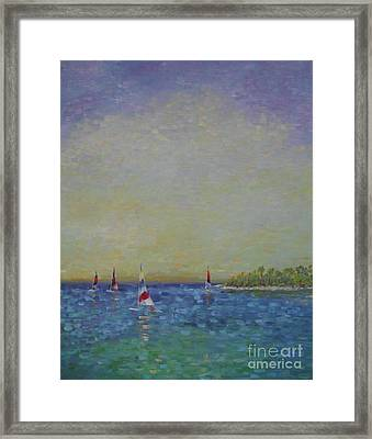 Afternoon Sailing Framed Print by Gail Kent
