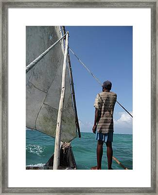 Afternoon Sailing In Africa Framed Print