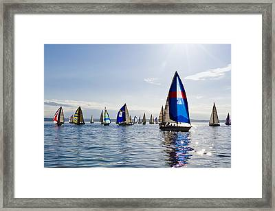 Afternoon Sailing Framed Print by Tom Dowd