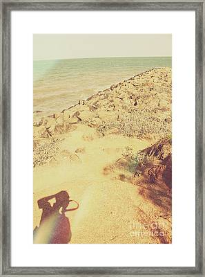 Afternoon Seascape Silhouette  Framed Print by Jorgo Photography - Wall Art Gallery