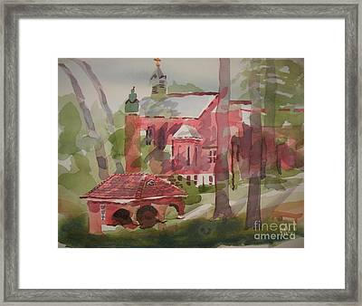 Framed Print featuring the painting Afternoon Shadows W403 by Kip DeVore