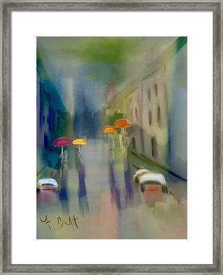 Afternoon Shower In Old San Juan Framed Print