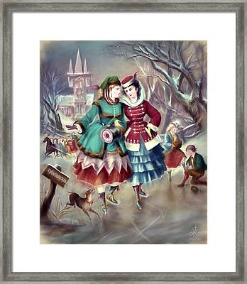 Afternoon Skate Framed Print by Pennie McCracken