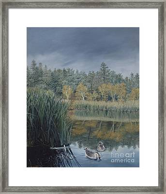 Afternoon Storm Approaching Lynx Lake Prescott Arizona Framed Print