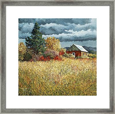 Afternoon Storm At Rio Lucio Framed Print
