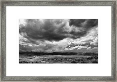 Afternoon Storm Couds Framed Print