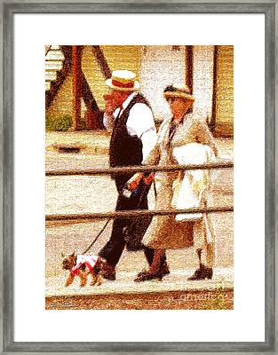 Afternoon Stroll Framed Print by Cristophers Dream Artistry