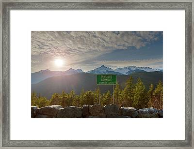 Afternoon Sun Over Tantalus Range From Lookout Framed Print