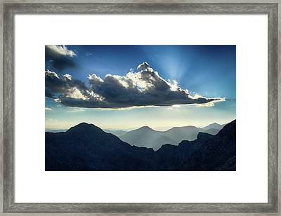 Framed Print featuring the photograph Afternoon Sunburst by Marie Leslie