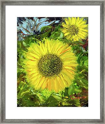 Afternoon Sunflowers Framed Print