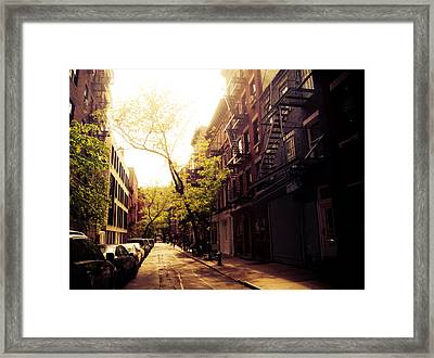 Afternoon Sunlight On A New York City Street Framed Print by Vivienne Gucwa