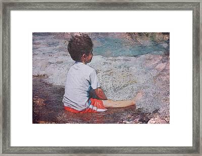 Afternoon Surf Framed Print