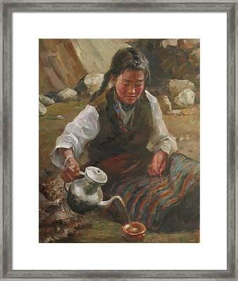 Afternoon Tea Framed Print by Kelvin  Lei