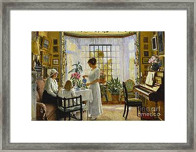 Afternoon Tea Framed Print by Paul Fischer
