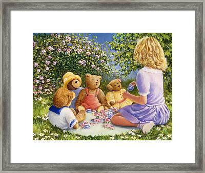 Afternoon Tea Framed Print by Susan Rinehart