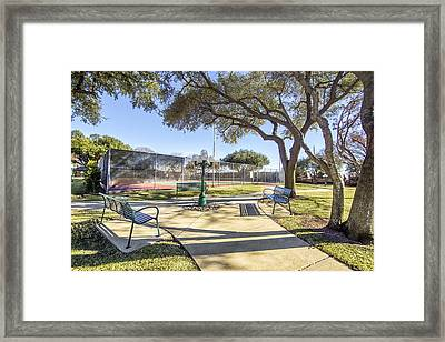 Afternoon Tennis Framed Print by Ricky Dean
