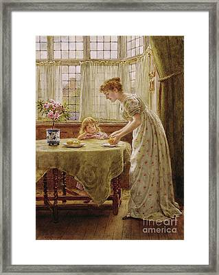 Afternoon Treat Framed Print