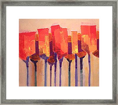 Afternoon Tulips Framed Print by Dalas  Klein