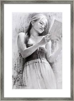 Afternoon With A Book Framed Print