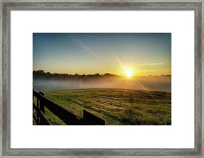 Afton Va Sunrise Framed Print