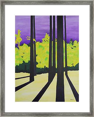 Against A Purple Sky Framed Print
