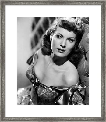 Against All Flags, Maureen Ohara, 1952 Framed Print