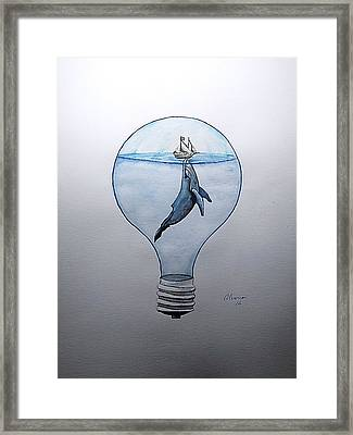 Against Clockwise Framed Print by Edwin Alverio