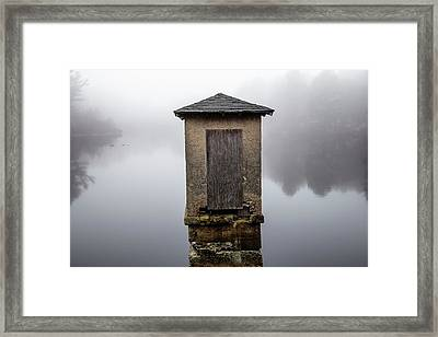 Framed Print featuring the photograph Against The Fog by Karol Livote