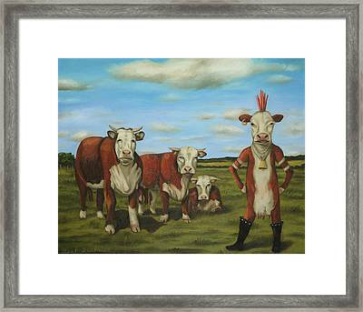 Against The Herd Framed Print by Leah Saulnier The Painting Maniac