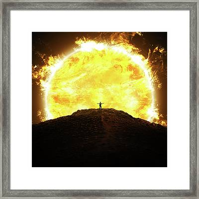 Against The Sun Framed Print by Zoltan Toth