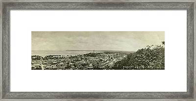 Framed Print featuring the photograph Agana Capital Of Guam Panorama by eGuam Panoramic Photo