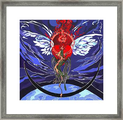 Agape Dragon Framed Print by Ivona Batuta