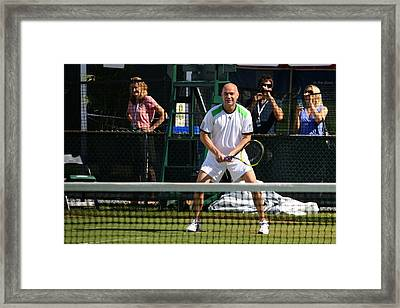 Agassi Warmup Framed Print by Anne Babineau