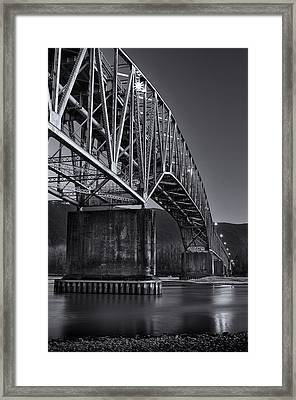 Agassiz-rosedale Bridge Framed Print