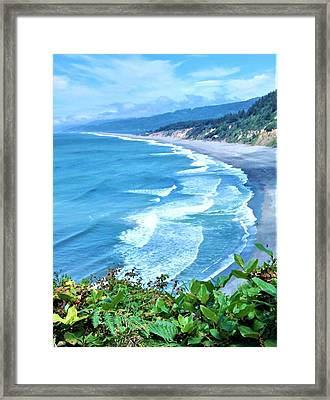 Agate Beach Framed Print