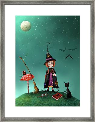 Agatha And Angus, Learning To Fly Framed Print