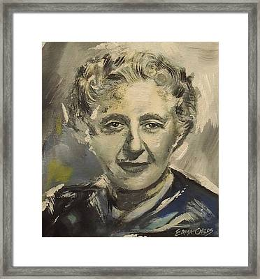 Agatha Christie Art Framed Print by Emma Childs