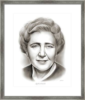 Agatha Christie Framed Print by Greg Joens