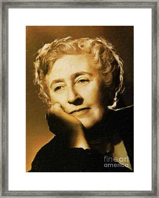 Agatha Christie, Literary Legend By Mary Bassett Framed Print by Mary Bassett