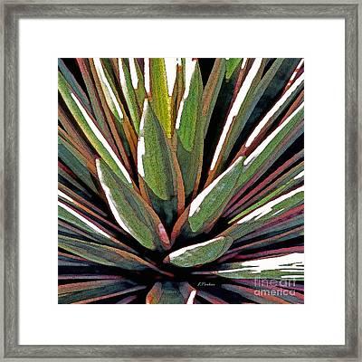 Agave Impressions 1 Framed Print by Linda  Parker