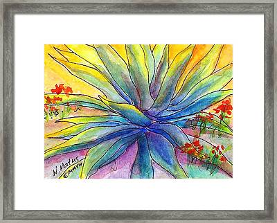 Agave Framed Print by Nancy Matus